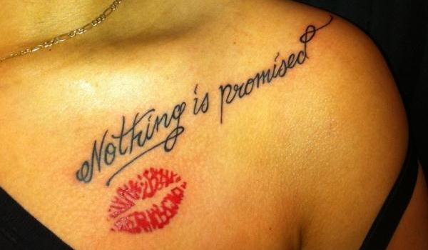 kiss tattoo 50 Stunning Tattoo Ideas For Women