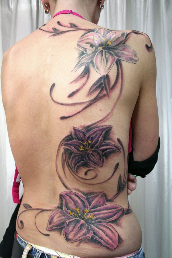 backpiece flower tattoo 160 Tattoos Pictures Which Are Marvelous