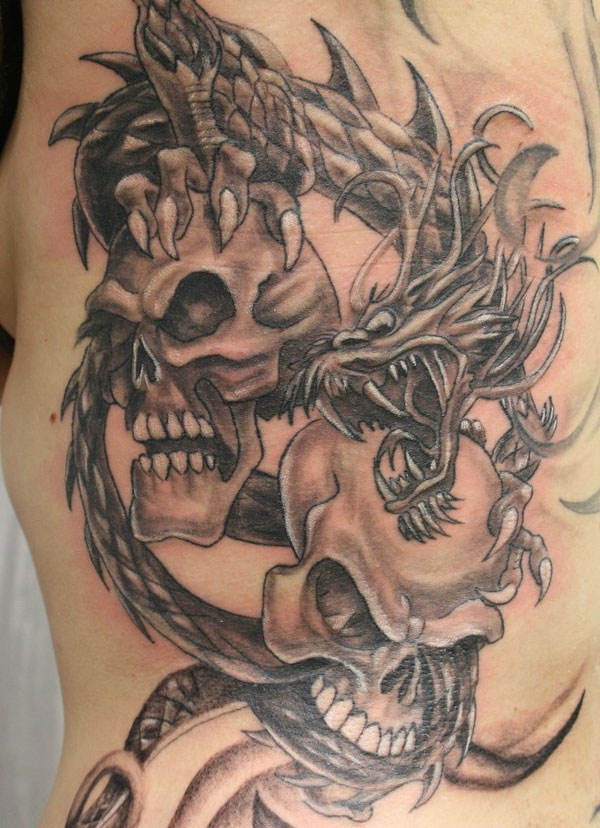 dragon skull 160 Tattoos Pictures Which Are Marvelous