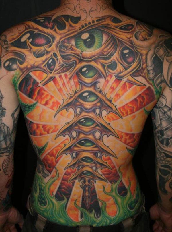 freehand bio back 160 Tattoos Pictures Which Are Marvelous