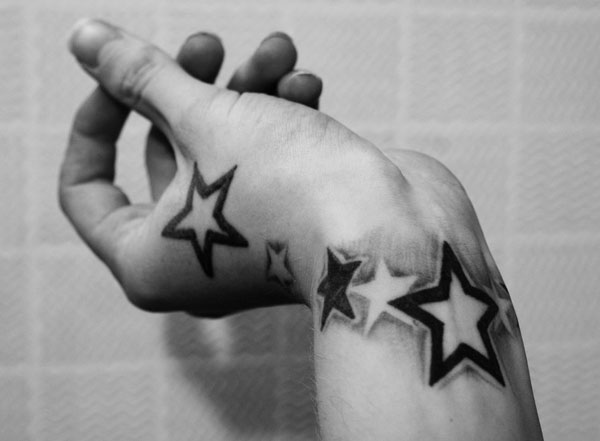 hand star 160 Tattoos Pictures Which Are Marvelous
