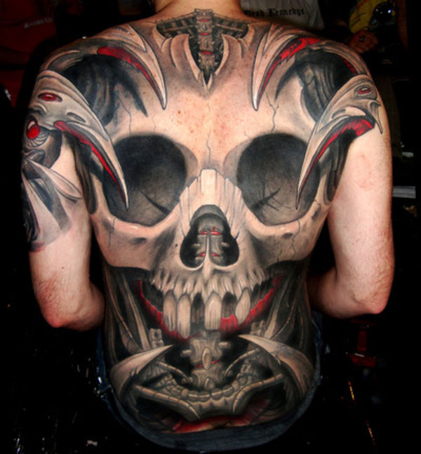 skull back piece 160 Tattoos Pictures Which Are Marvelous
