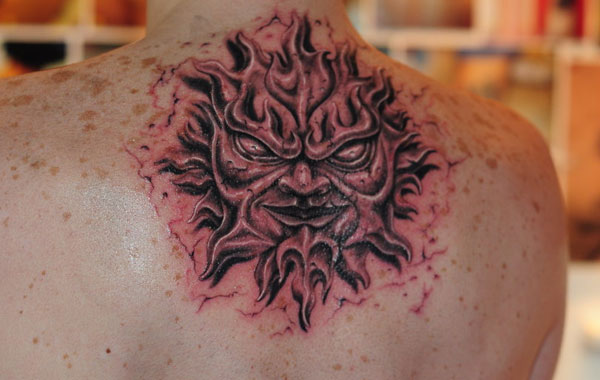 stone sun tattoo 160 Tattoos Pictures Which Are Marvelous