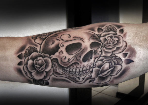 Skull Meaning Skull And Rose Tattoo Meaning