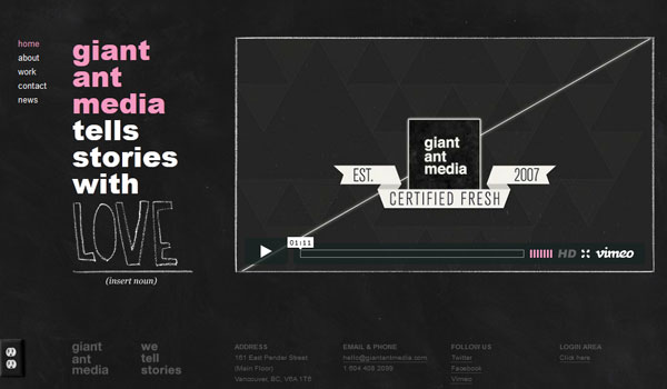 giant ant media 30 Inspiring Examples of Textures in Web Design