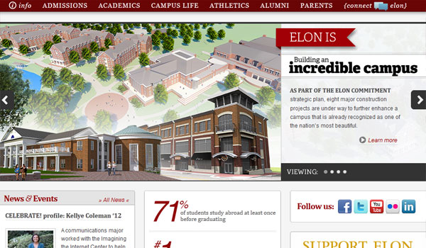 elon university 30 University Website Designs