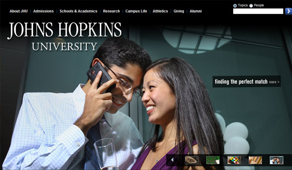 johns hopkins 30 University Website Designs