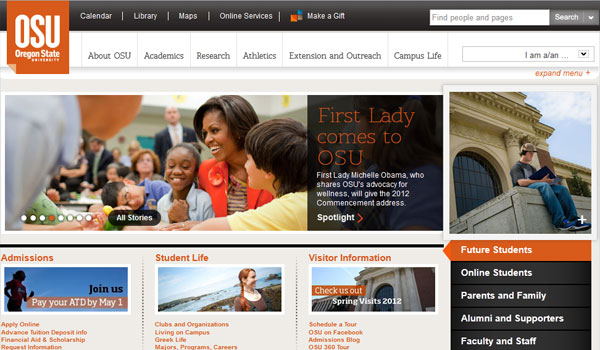 oregon state university 30 University Website Designs