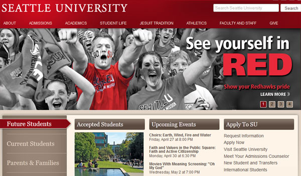 seattle university 30 University Website Designs