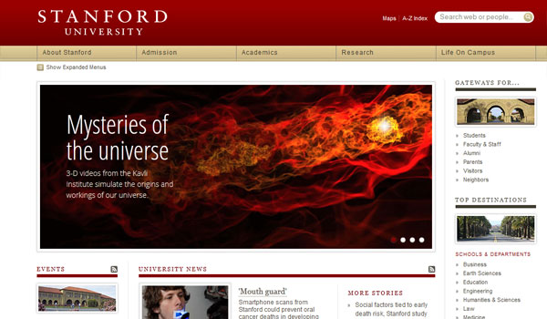 stanford 30 University Website Designs