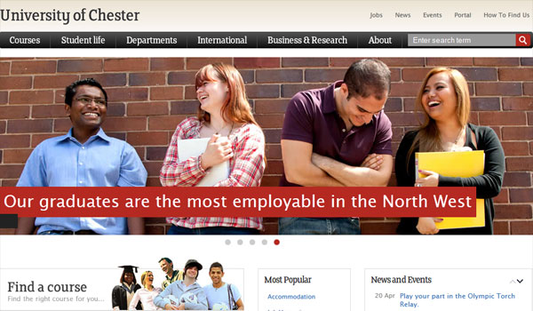 university of chester 30 University Website Designs