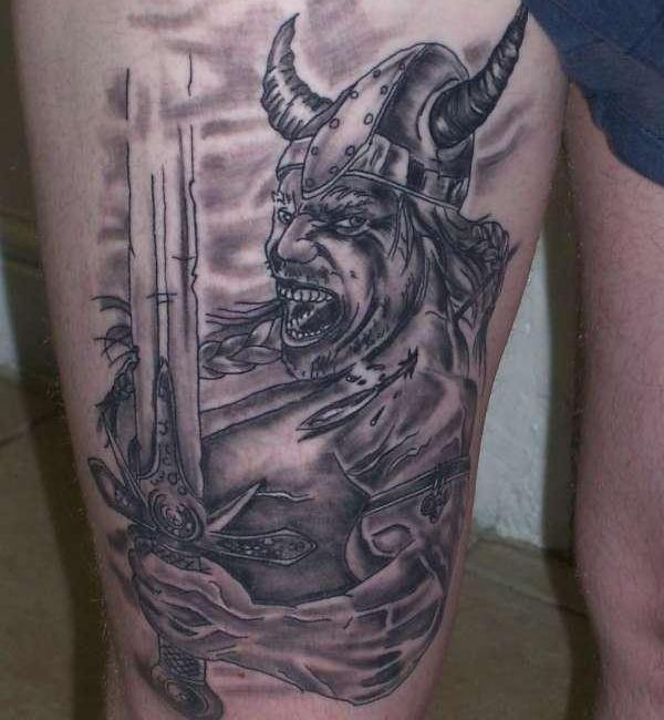 angry viking 30 Majestic Viking Tattoos