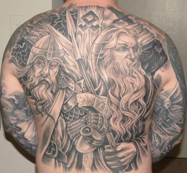 odin and thor 30 Majestic Viking Tattoos