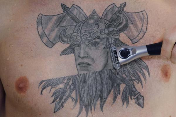 shaved viking 30 Majestic Viking Tattoos