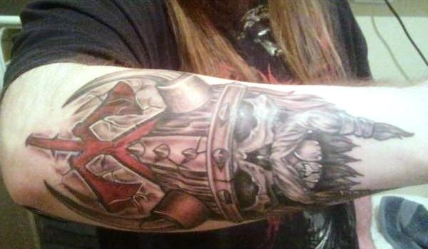 viking skull 30 Majestic Viking Tattoos