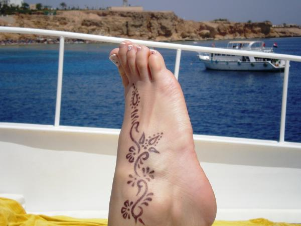 Foot On Boat