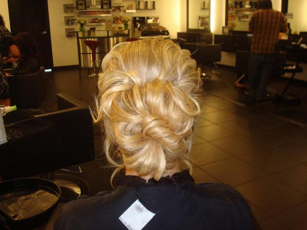Wedding Updo Back View