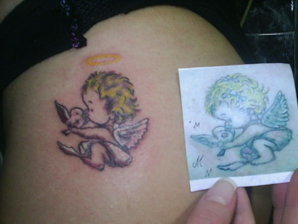 f7e717a42 Baby Angel Tattoos - 25 Wonderful Collections | Design Press