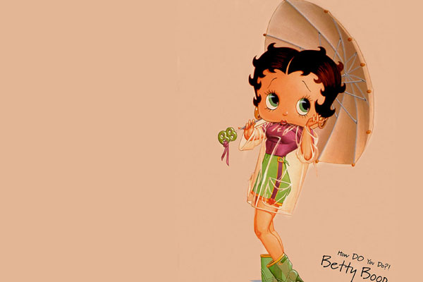 Betty Boop With umbrella