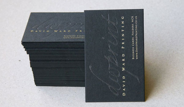 black debossed card 30 Groovy Black Business Cards