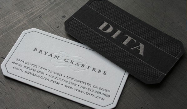 dita eyewear la business card 30 Groovy Black Business Cards
