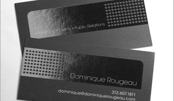 dominique rougeau 30 Groovy Black Business Cards