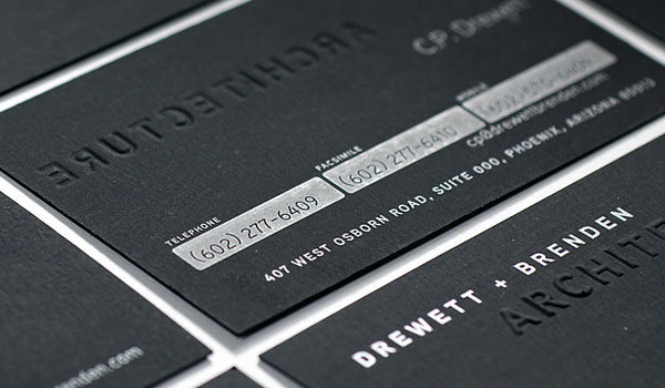 drewett brenden business card 30 Groovy Black Business Cards