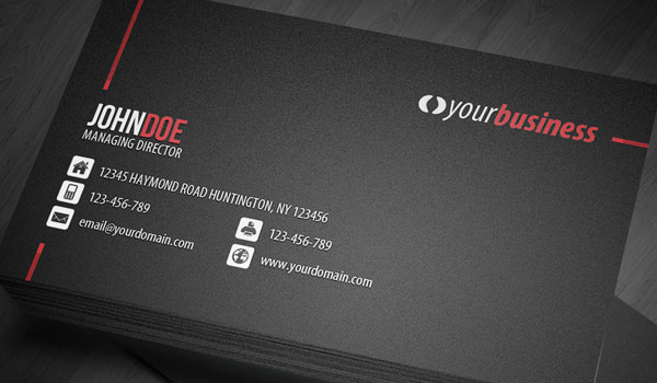 line corporate business card 30 Groovy Black Business Cards