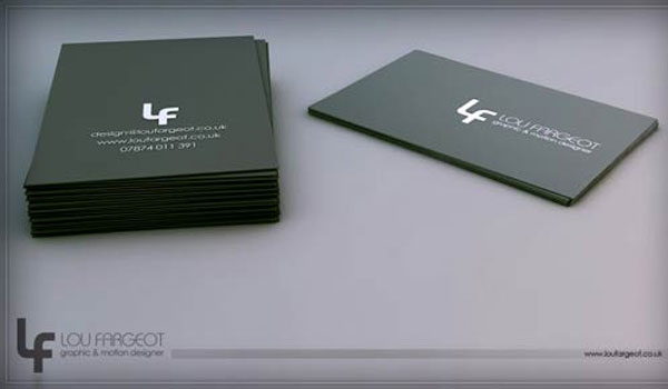 lou fargeot card design 30 Groovy Black Business Cards