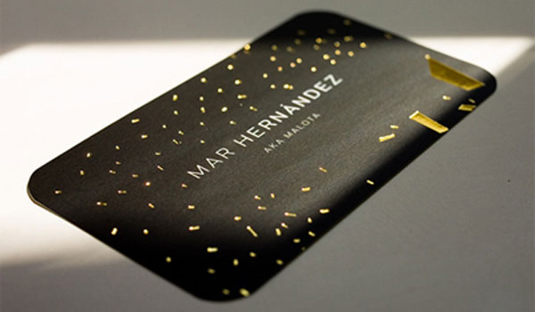 mar hernandez 30 Groovy Black Business Cards