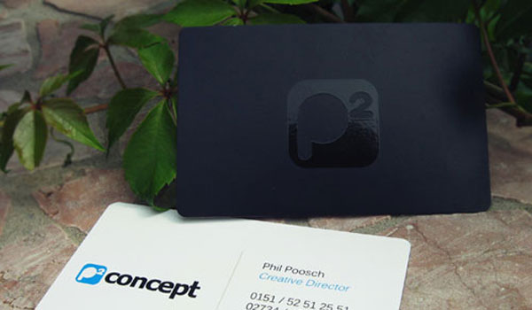 p2 concept 30 Groovy Black Business Cards