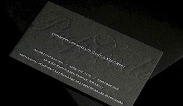 peepcode 30 Groovy Black Business Cards