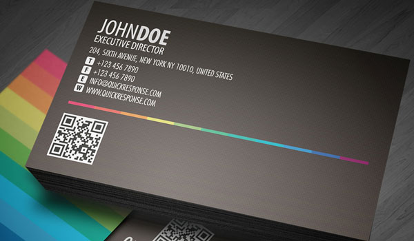 quick response business card 30 Groovy Black Business Cards