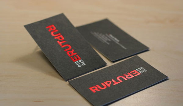rupture 30 Groovy Black Business Cards