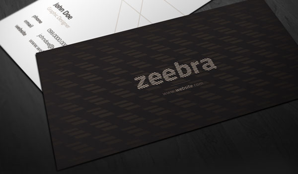zeebra 30 Groovy Black Business Cards