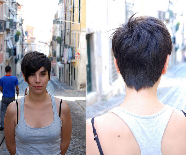 Short Dark Haircut
