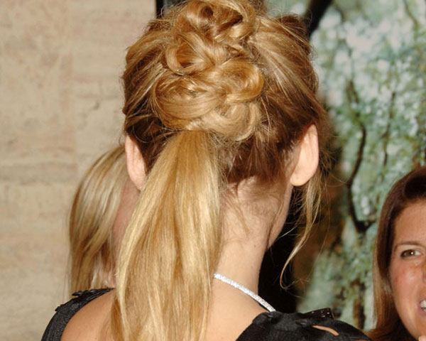 Ornate Up-Do And Ponytail