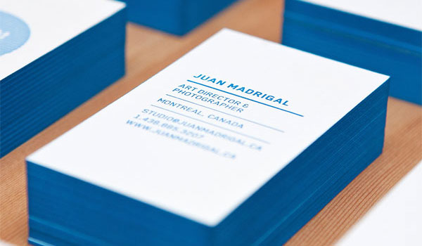Beautiful Blue Business Card
