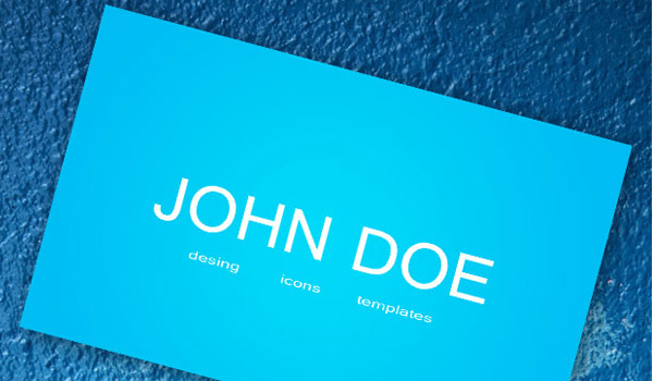 30 stunning blue business cards slodive blue business card colourmoves Gallery