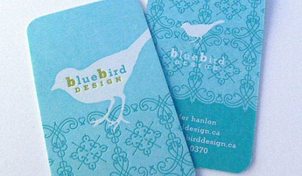 bluebird design 30 Stunning Blue Business Cards