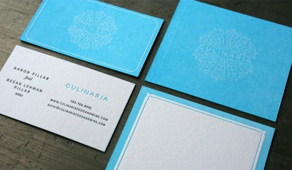 culinaria business 30 Stunning Blue Business Cards