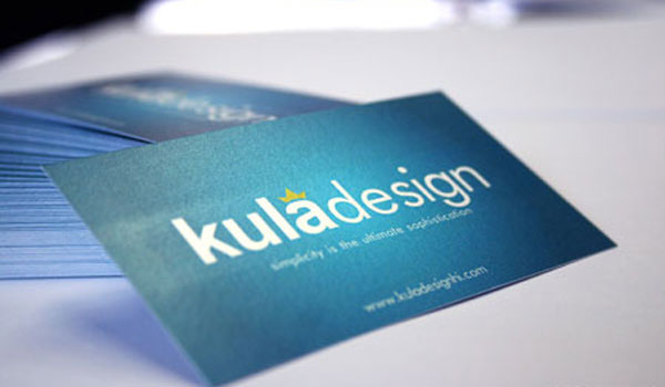 kula design card 30 Stunning Blue Business Cards