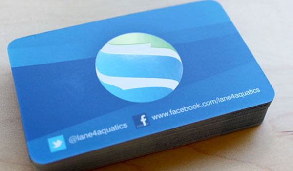 lane 4 aquatics 30 Stunning Blue Business Cards