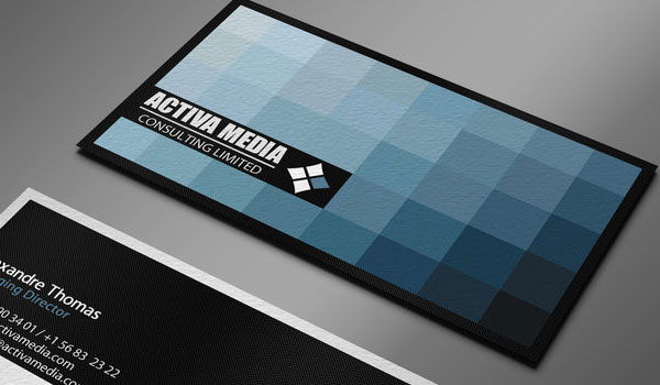 Mosaic Blue Business Card