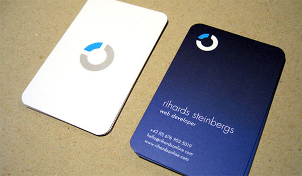 rihards steinbergs 30 Stunning Blue Business Cards