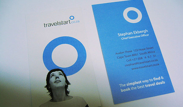 travel start 30 Stunning Blue Business Cards