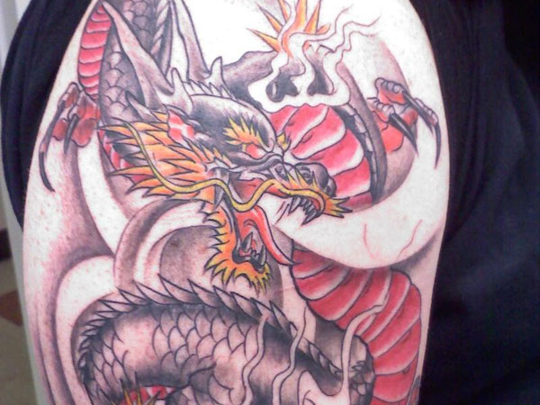 chinese dragon sleeve 25 Stunning Chinese Dragon Tattoo Designs
