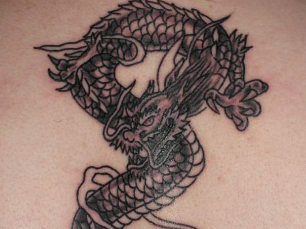 Classic Chinese Dragon Tattoo