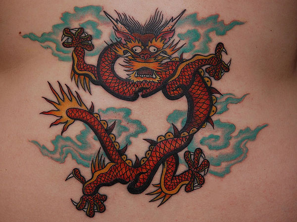 finished chinese dragon tattoo 25 Stunning Chinese Dragon Tattoo Designs