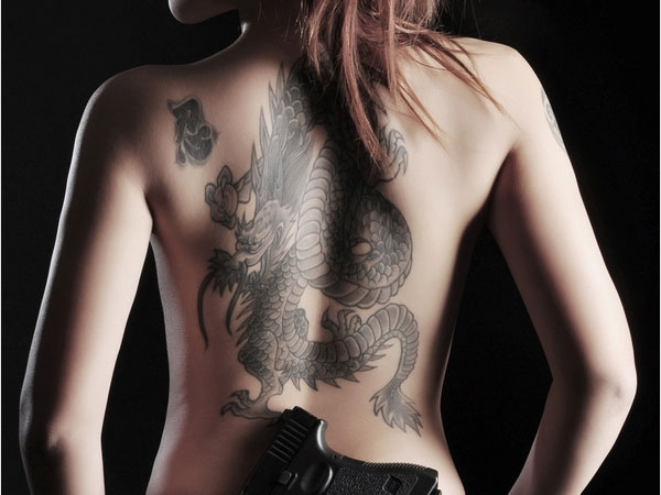 Apologise, sexy girls with dragon tattoos the abstract